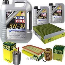 Inspektionskit Filtre Liqui Moly Öl 7l 5w-30 Für Land Rover Range Lw 3.0 D 4x4