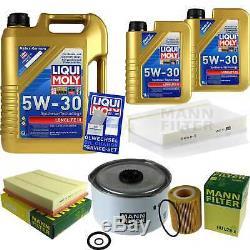 Inspektionskit Filtre Liqui Moly Öl 7l 5w-30 Pour Land Rover Discovery IV La