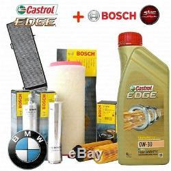 Inspektionskit L Filtre Castrol Edge 0w30 5 Lt 4 Bosch Bmw 320d 100kw 204d1