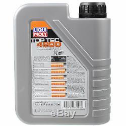 Inspektionspaket 7 L Liqui Moly Toptec 4200 5w-30 + Mann Filterpaket Asx 9809815