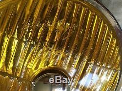 Lampe De Brouillard Amber Amber Tungsten Iodine Classique Scooter De Voiture Des Années 1960 Nos