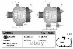 Neu Denso Dan1105 Générateur Für Land Rover