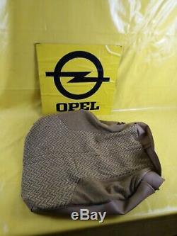 Neu + Original Opel Sitzbezug Rückenlehne Leder + Stoff Beige Graun / Braun