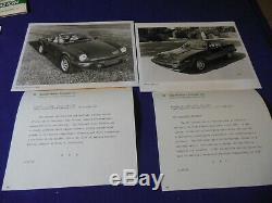 Original 1980 Jaguar Rover Triumph Tr7 Dossier De Presse Convertible Spitfire Mgb Jaguar