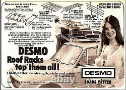 Original Desmo 3500 Classic Car Boot Rack Datant Des Années 1970 Utilisé, Mais Vgc