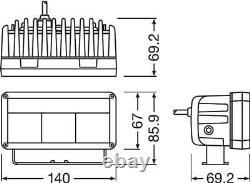 Osram 6 Barre D'éclairage Led Arbeitsscheinwerfer Mit Positionslicht Wide 12v Ohne Ece