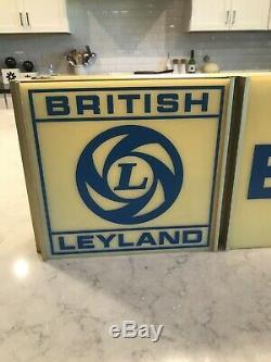Rare Vintage British Leyland Lighted Suspendu Signe Jaguar Mg Land Rover Mini