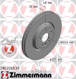 Zimmermann Bremsscheiben Satz Jaguar F-pace (dc) Xe (ja) Xf (jb) 17 Zoll Vorne